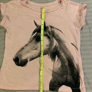 Carter's Shirts & Tops - Carter's pink horse t-shirt